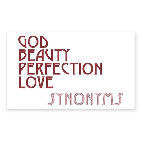 God Beauty Perfection Love Rectangle Sticker