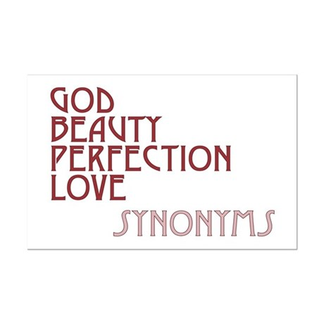 God Beauty Perfection Love Mini Poster Print