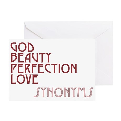God Beauty Perfection Love Greeting Card