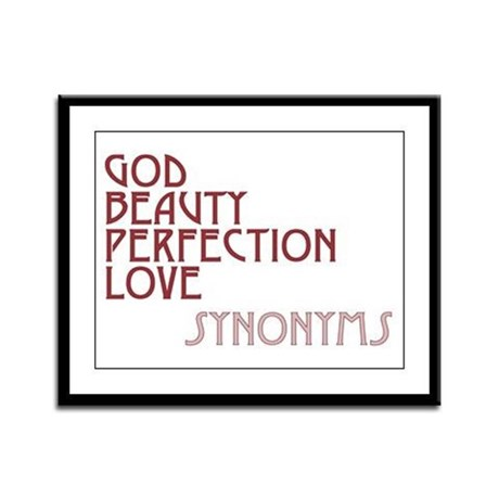 God Beauty Perfection Love Framed Panel Print