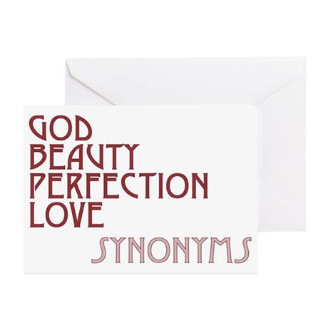 God Beauty Perfection Love Greeting Cards ~ Package of 10