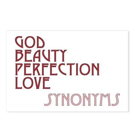 God Beauty Perfection Love Postcards ~ Package of 8