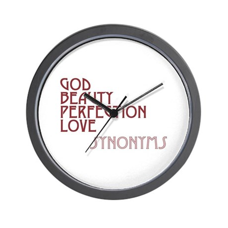 God Beauty Perfection Love Wall Clock
