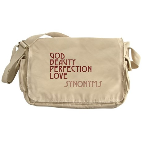 God Beauty Perfection Love Canvas Messenger Bag