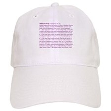Custody Defined Purple Baseball Cap