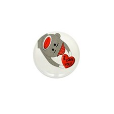 Sock Monkey Mini Button (10 pack)