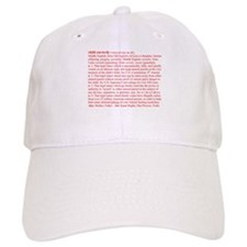 Custody Defined Red Baseball Cap