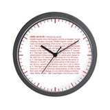 Custody Defined Red Wall Clock