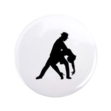 "Dancing couple tango 3.5"" Button (100 pack)"