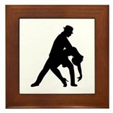 Dancing couple tango Framed Tile