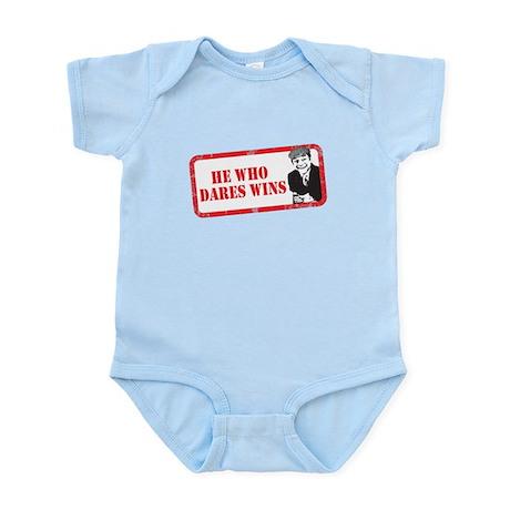 HE WHO DARES WINS Infant Bodysuit