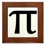 Math Geek Nerd Pi Framed Tile