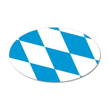 Flag of Bavaria 38.5 x 24.5 Oval Wall Peel