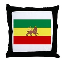 Lion of Judah Ethopian Flag Throw Pillow