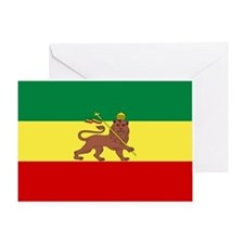 Lion of Judah Ethopian Flag Greeting Card