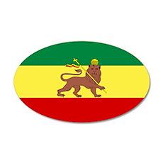 Lion of Judah Ethopian Flag 38.5 x 24.5 Oval Wall