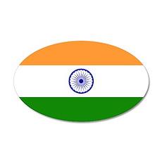 Flag of India 22x14 Oval Wall Peel
