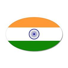 Flag of India 38.5 x 24.5 Oval Wall Peel