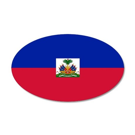 Flag of Haiti 38.5 x 24.5 Oval Wall Peel