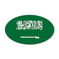 Flag of Saudi Arabia 22x14 Oval Wall Peel