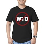NO WTO Men's Fitted T-Shirt (dark)