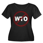 NO WTO Women's Plus Size Scoop Neck Dark T-Shirt