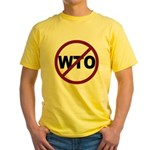NO WTO Yellow T-Shirt