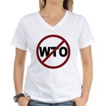 NO WTO Women's V-Neck T-Shirt