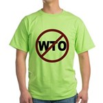NO WTO Green T-Shirt