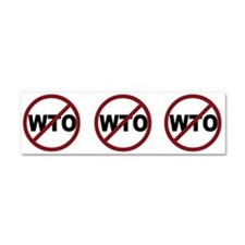 NO WTO Car Magnet 10 x 3