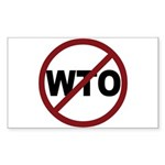 NO WTO Sticker (Rectangle 10 pk)