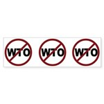 NO WTO Sticker (Bumper 10 pk)