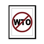 NO WTO Framed Panel Print