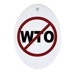 NO WTO Ornament (Oval)