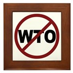 NO WTO Framed Tile