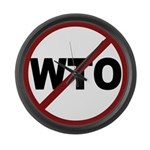 NO WTO Large Wall Clock