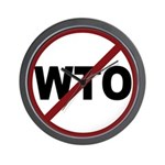 NO WTO Wall Clock