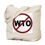 NO WTO Tote Bag