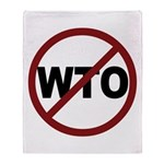 NO WTO Throw Blanket