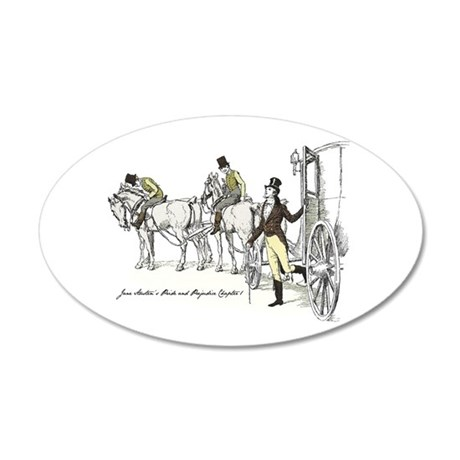 Pride and Prejudice Chapter 1 22x14 Oval Wall Peel