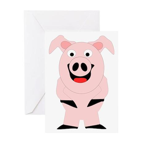 Pig Design Greeting Card