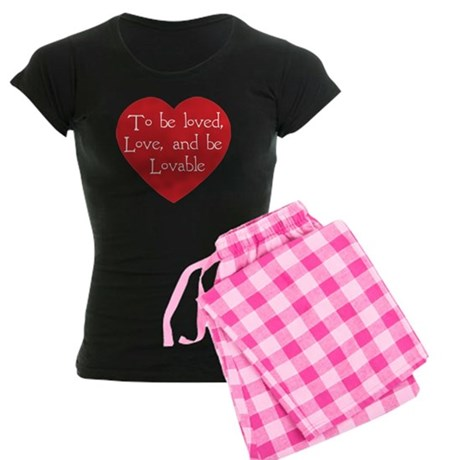 Love and be Lovable Women's Dark Pajamas