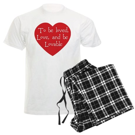 Love and be Lovable Men's Light Pajamas