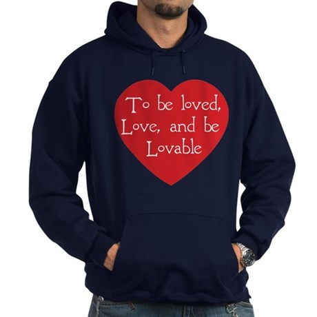 Love and be Lovable Men's Dark Hoodie