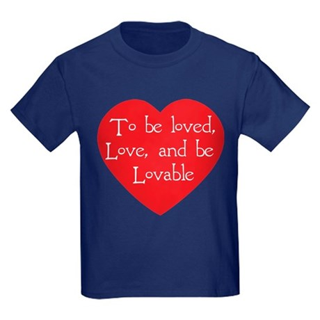 Love and be Lovable Kids Dark T-Shirt