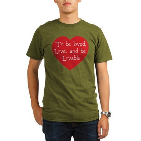 Love and be Lovable Organic Men's Dark T-Shirt
