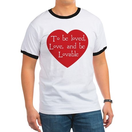 Love and be Lovable Men's Ringer Tee