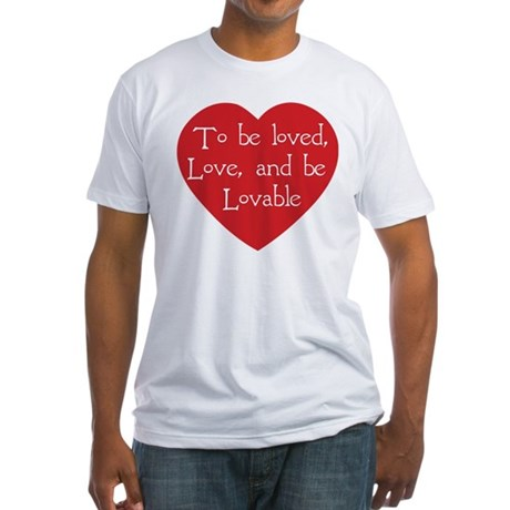 Love and be Lovable Men's Fitted T-Shirt