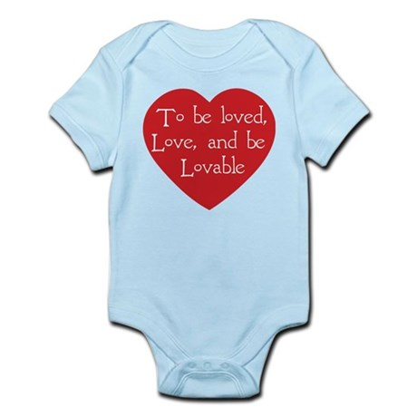 Love and be Lovable Infant Bodysuit