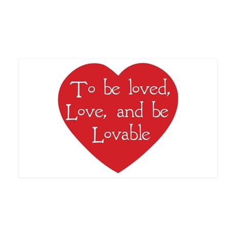 Love and be Lovable 38.5x24.5 Wall Peel